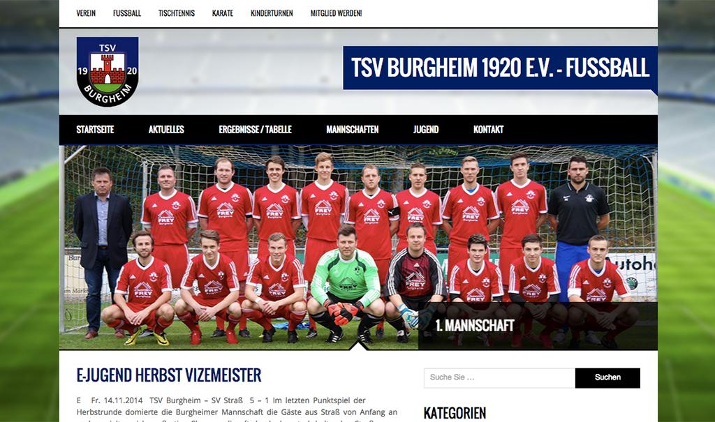 Bild von Neue TSV Burgheim 1920 e.V. Webseite ist online!