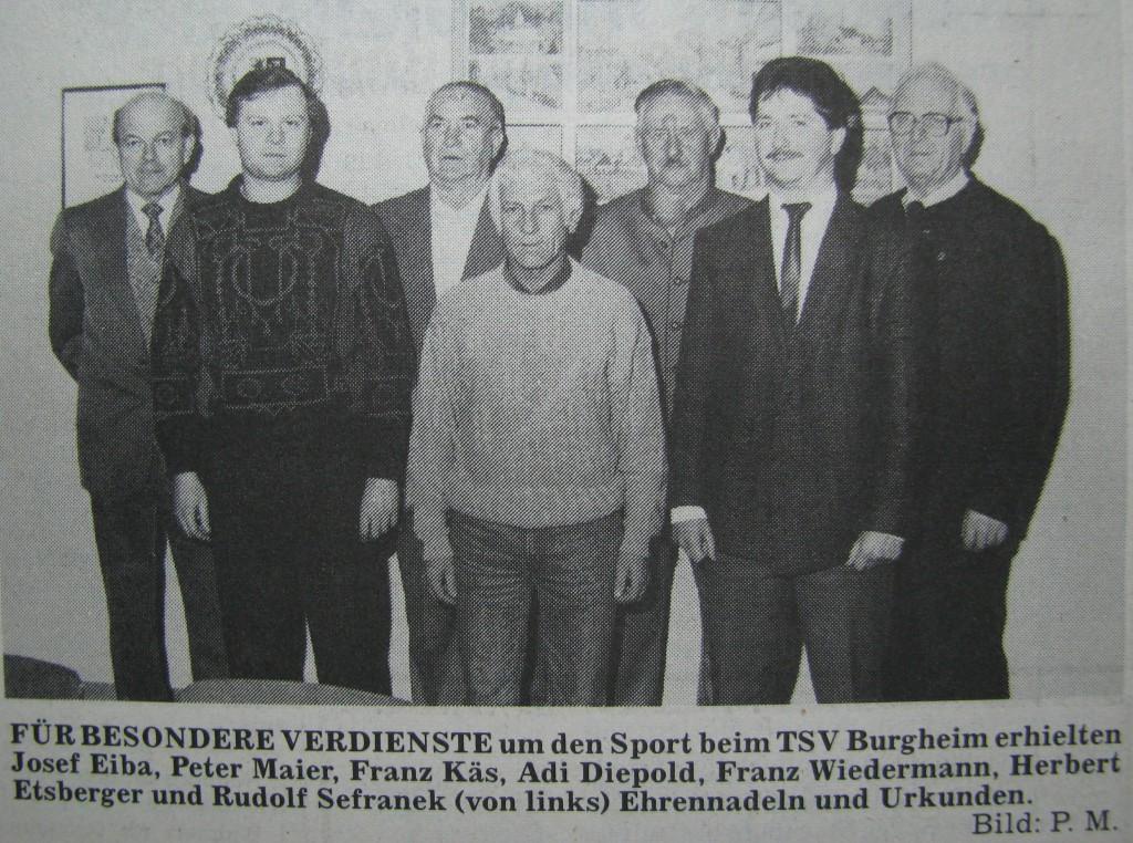 Photo of DAMALS: Vertrauensbeweis für den Vorstand – Generalversammlung 1987