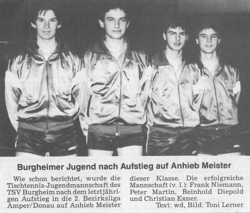 Photo of DAMALS: Jugend weiter im Vormarsch