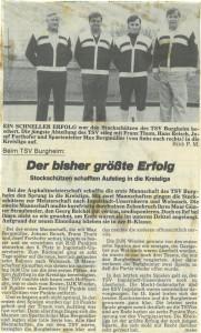 Stockschützen Kreisliga