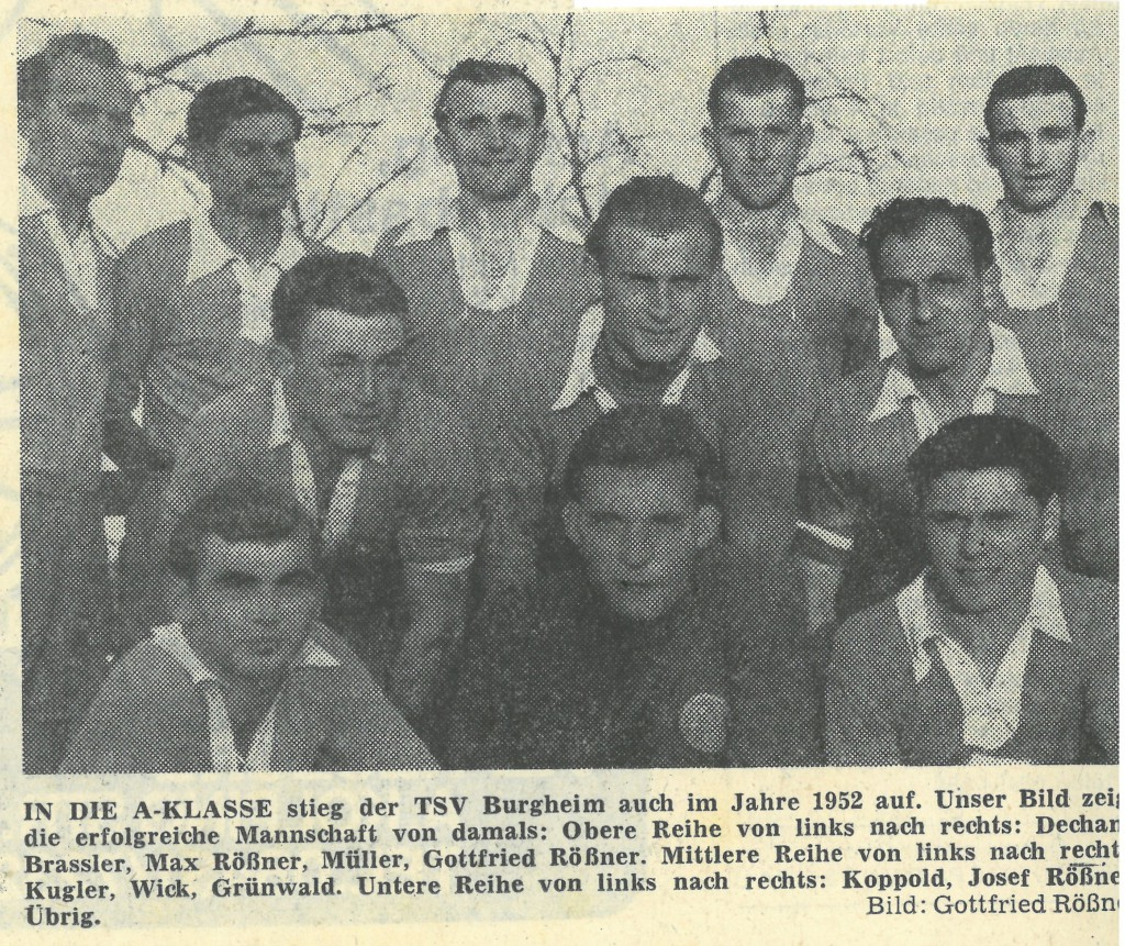 Photo of DAMALS: Wieder ein Burgheimer Sieg