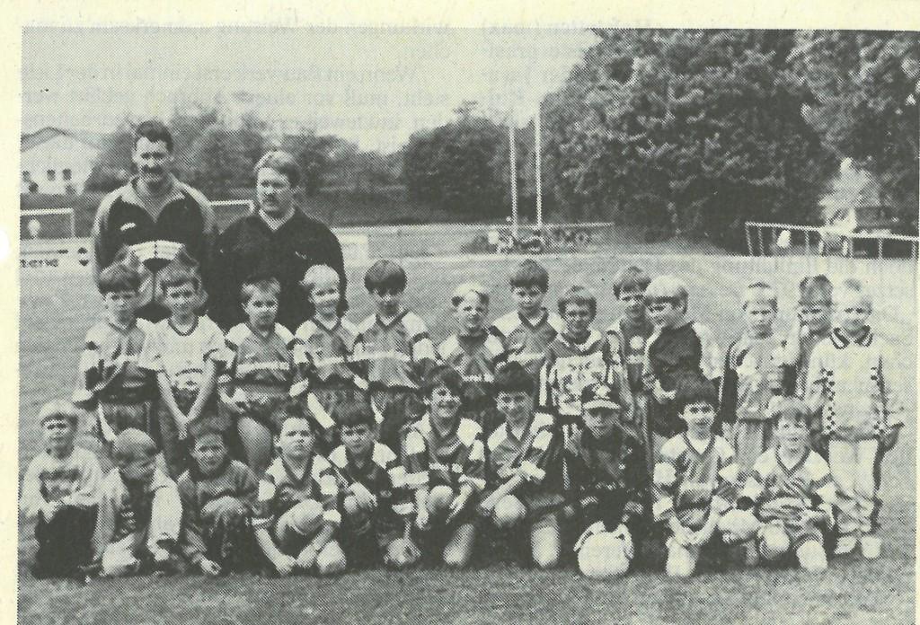Bild von DAMALS: F-Jugend des TSV Burgheim gut in Schuß