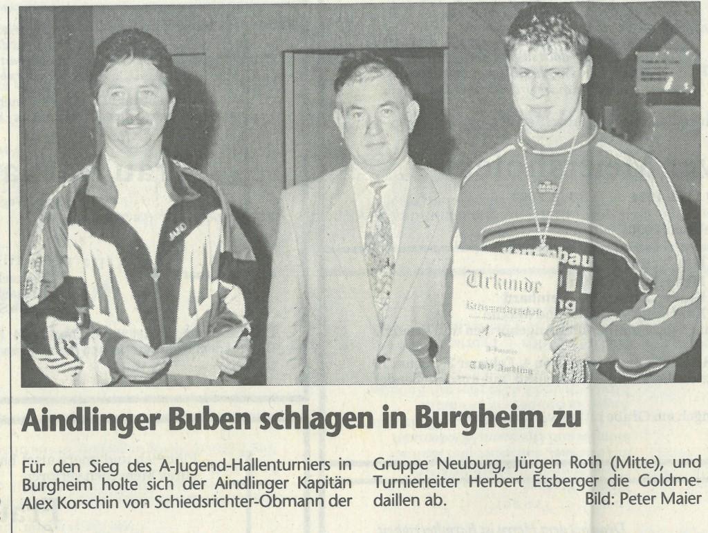Bild von DAMALS: Aindlinger Buben schlagen in Burgheim zu