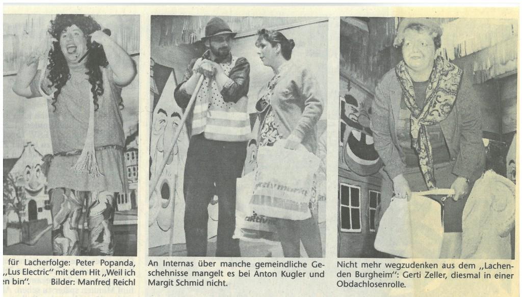 Bild von DAMALS: Ungeschminkte Burgheimer Wahrheit