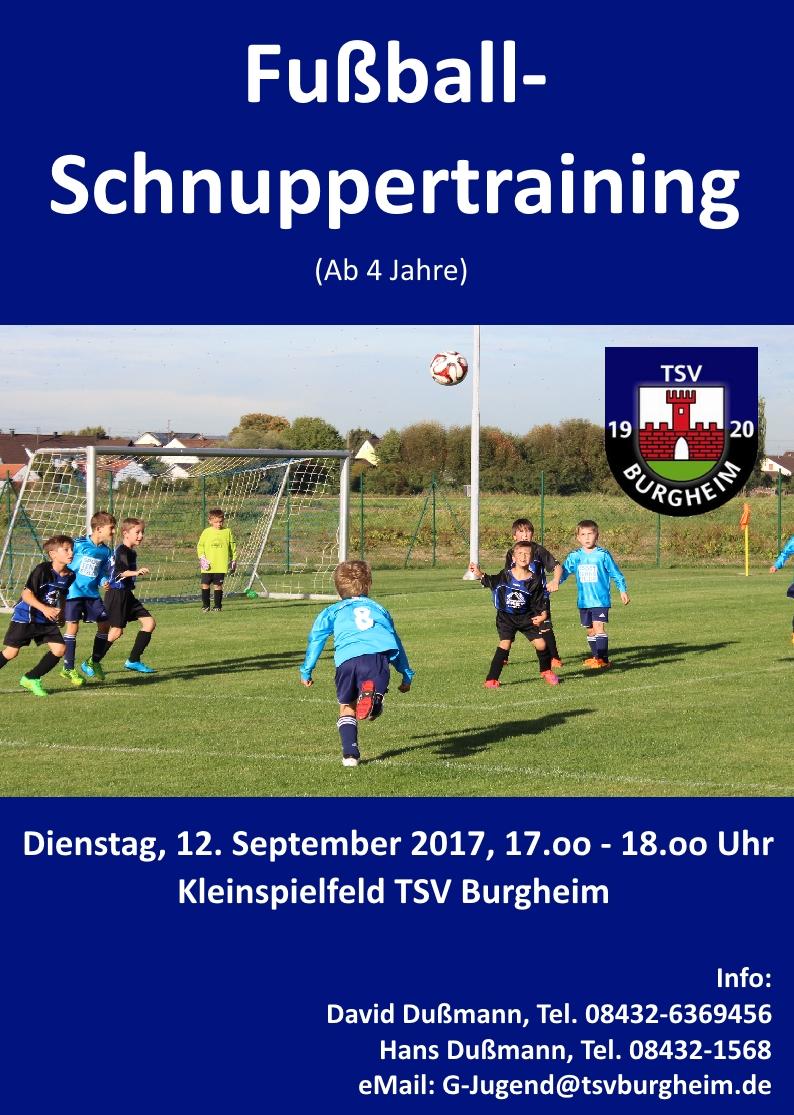 Photo of Fußball-Schnuppertraining ab 4 Jahre