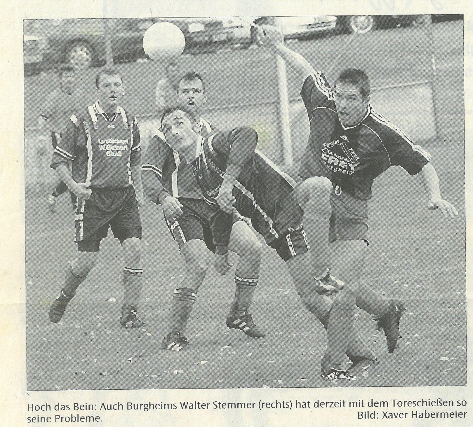 Bild von DAMALS: TSV Burgheim trifft das Tor nicht mehr
