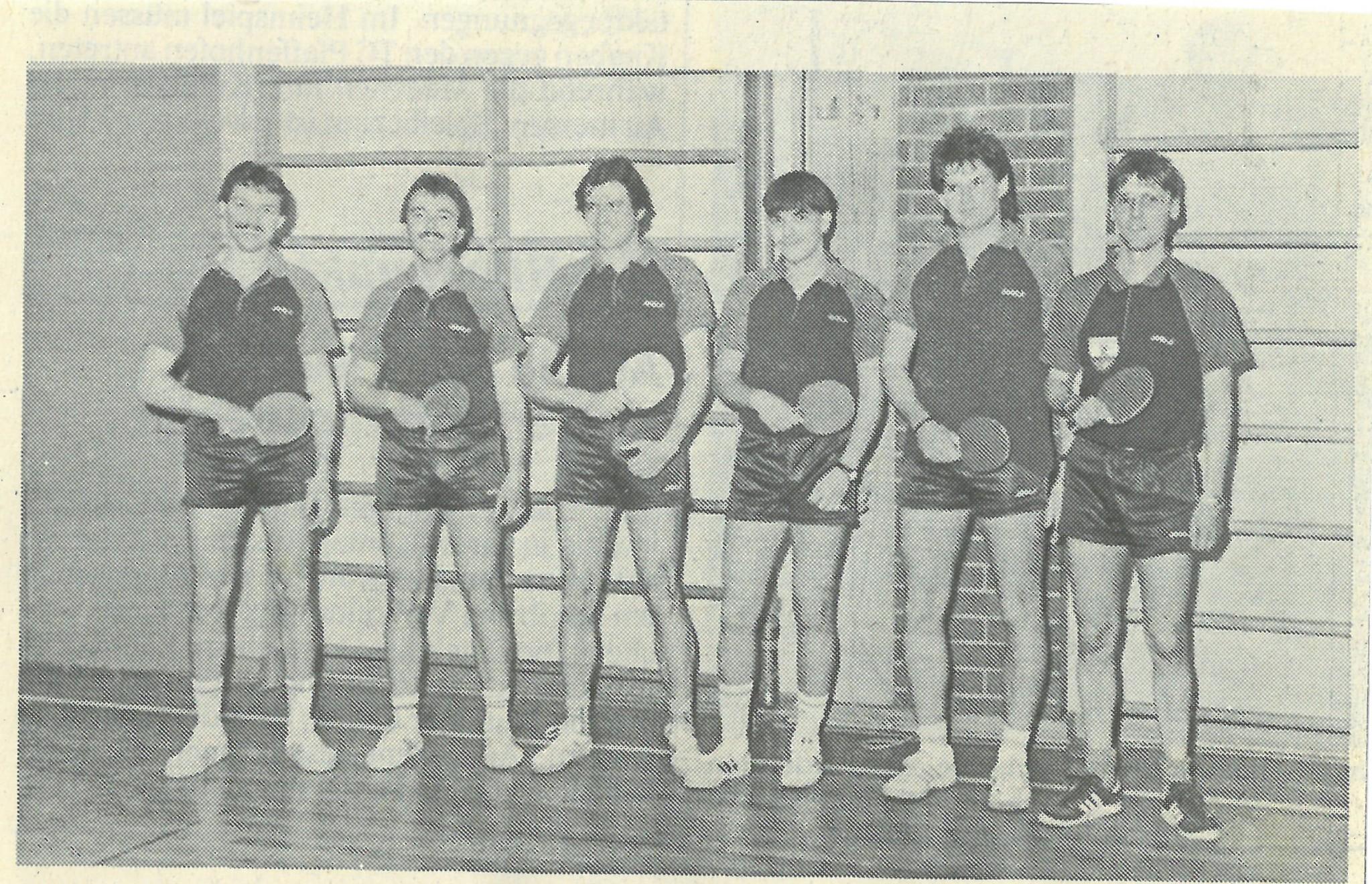 Bild von DAMALS: Burgheims erstes Tischtennisteam wurde Meister